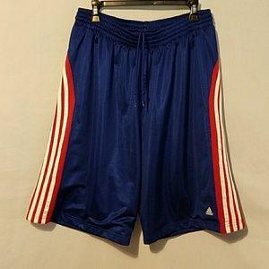 Adidas basketball shorts.